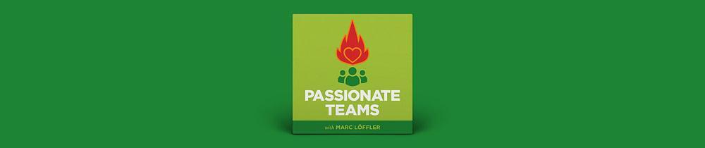Grüner Banner mit Passionate Teams Logo